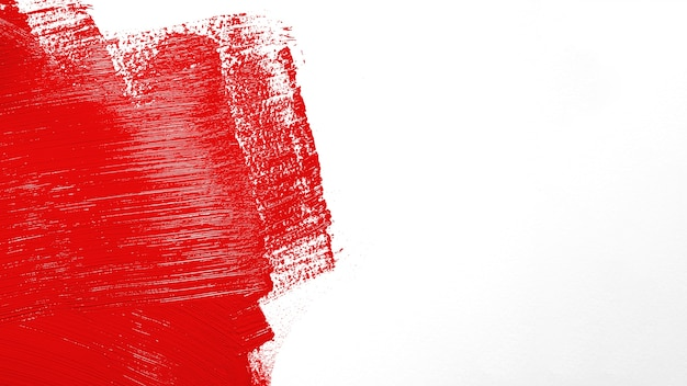 Bright red stroke on wall