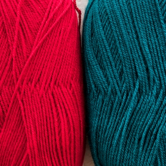 Bright skeins of yarn