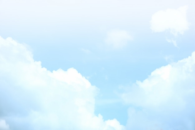 Bright sky with white clouds