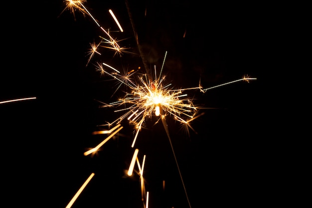 Bright sparks with black background