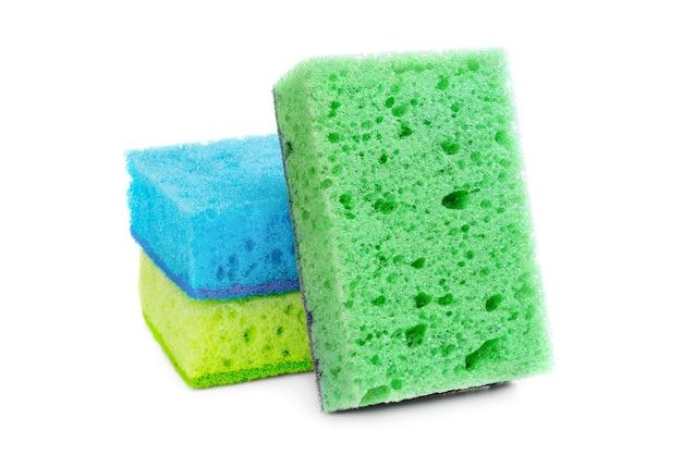 Яркие губки для сантехнических работ, мытья посуды, уборки ванной и других хозяйственных нужд.