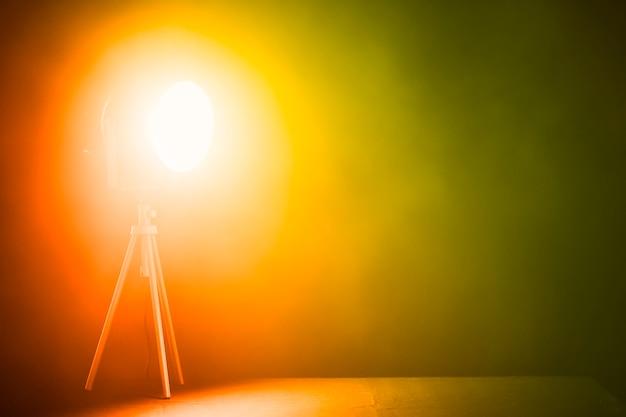 Bright spotlight in studio