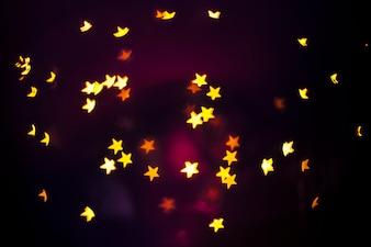 Bright stars on dark background