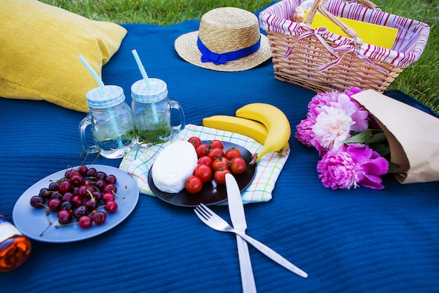 Bright summer picnic