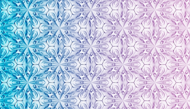 Bright three-dimensional geometric pattern with gradient color transition