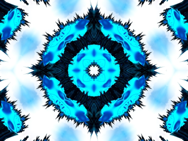 Яркие белые голубые и фиолетовые обои калейдоскоп