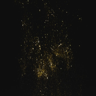 Bright yellow sequins on dark background