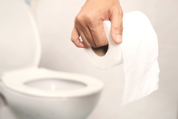 Bring toilet paper to the bathroom. for cleaning in the bathroom