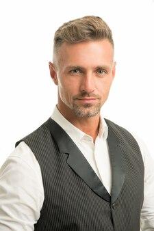 剛毛と顔の毛。自然の美。男は魅力的な手入れの行き届いた顔の毛。理髪店のコンセプト。グリズルヘア。理髪美容師。男成熟した格好良いモデル。マッチョであることはどういう意味ですか。