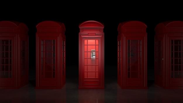 Британская телефонная будка в лондоне