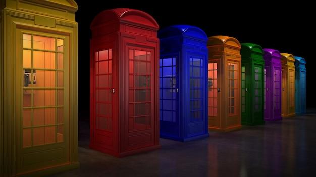런던의 영국 전화 부스