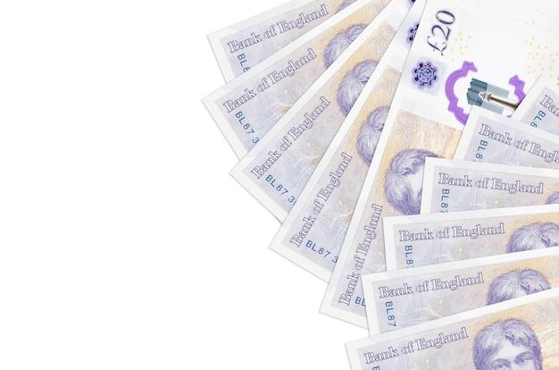 英国ポンドの請求書は白で隔離されています