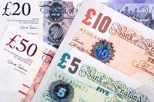 British pounds a business surface