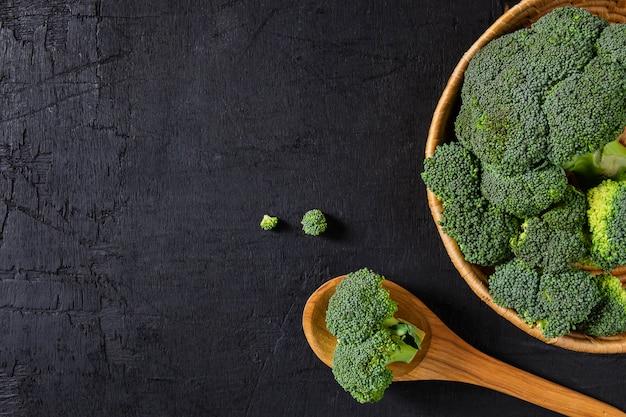 Broccoli fresh in the basket.