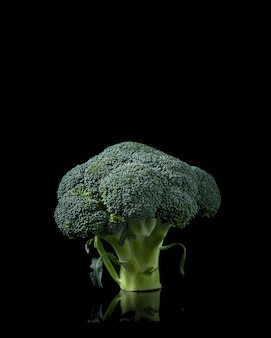 Broccoli isolated on black