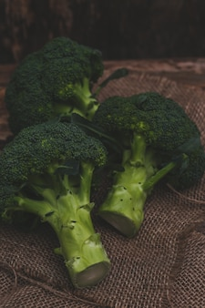Broccoli on the table