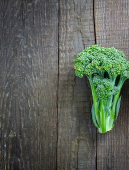 Broccoli on a wooden