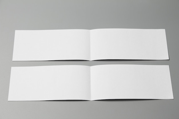Brochure magazine isolated on gray