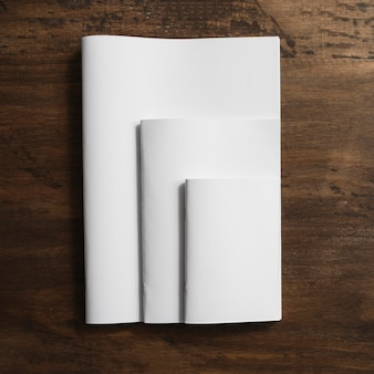 Brochures in three sizes