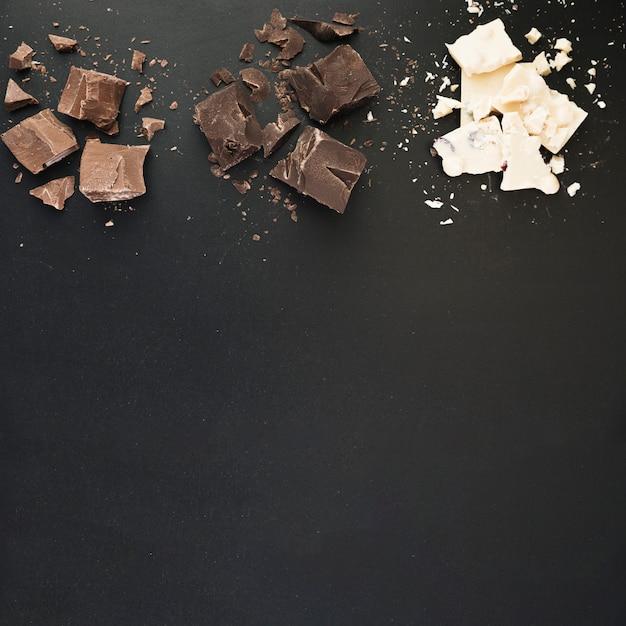Barrette di cioccolato rotte