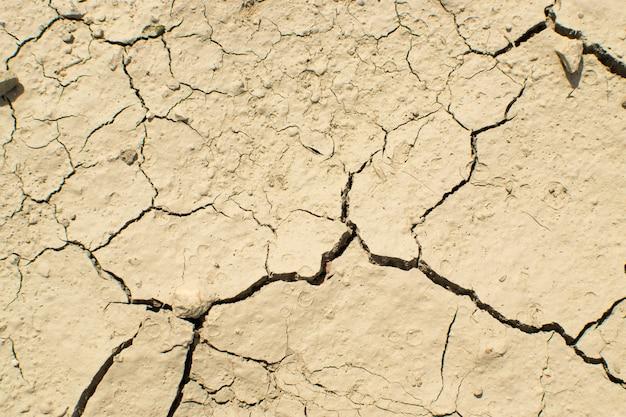 Текстура сломанной глинистой почвы с трещинами