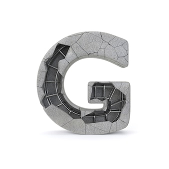 Broken concrete alphabet g