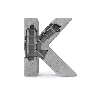 Broken concrete alphabet k