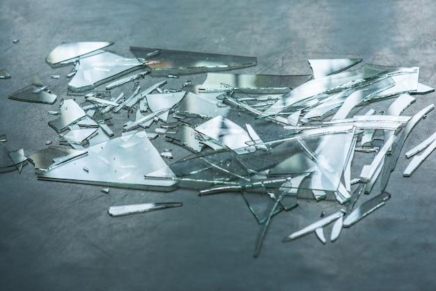 Broken glass  on the floor