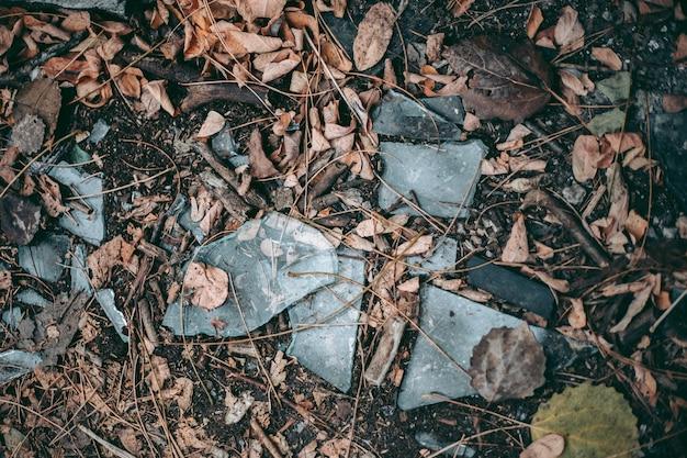 체르노빌 pripyat의 깨진 유리