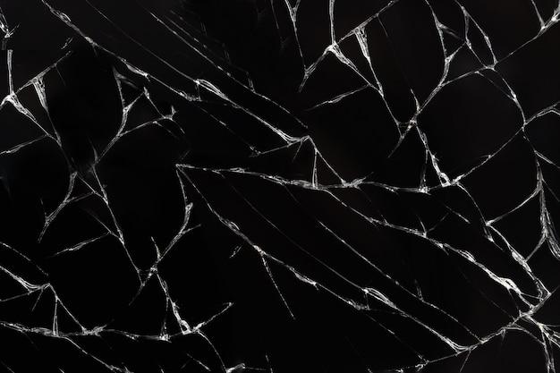 검은 바탕에 깨진 된 유리 질감입니다.