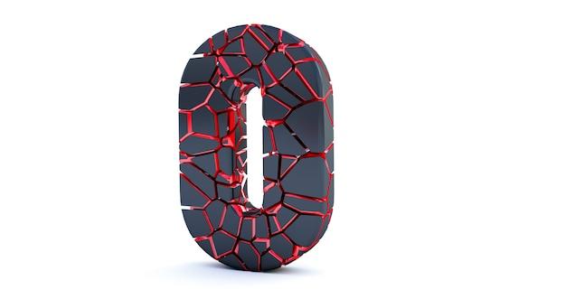 Сломанный номер изолирован (номер 0).
