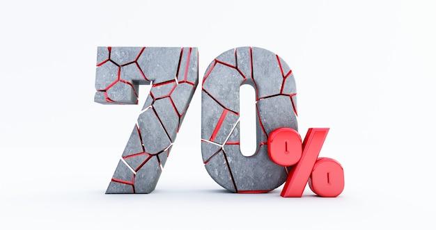 Семьдесят процентов (70%) сломаны изолированы, 70 процентов сбыта. до 70%.