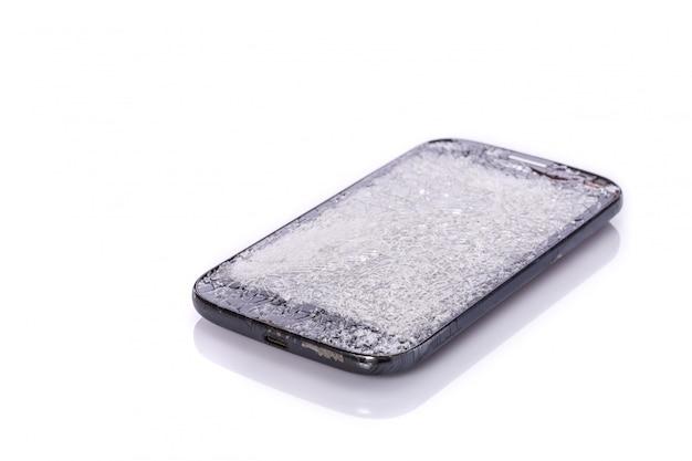 Broken of smartphone.