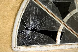 Broken window, window