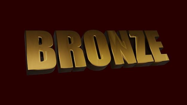 Bronze 3d text images
