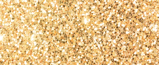 Bronze glitter texture, banner macro photo, high detailed surface. close-up to sandpapper, abstract glitter lights for holiday celebration, new year and christmas. glowing effect concept photo