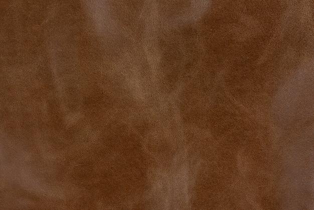 ブロンズの質感の滑らかな革の表面の背景、小さな木目