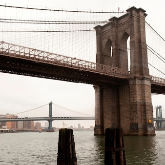 Brooklyn bridge in manhattan, new york city, u.s.a.