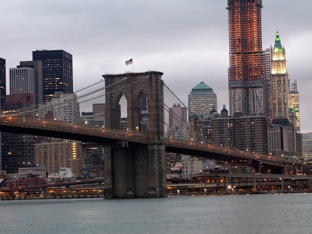 Brooklyn bridge in new york city, u.s.a.