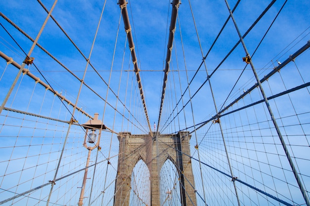 The brooklyn bridge, new york city, usa