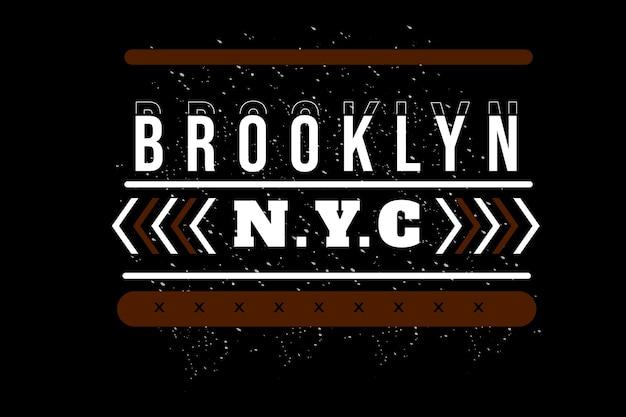 ブルックリンニューヨーク市のタイポグラフィデザイン