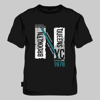 브루클린 퀸즈 뉴욕시 그래픽 타이포그래피 벡터 t 셔츠 인쇄
