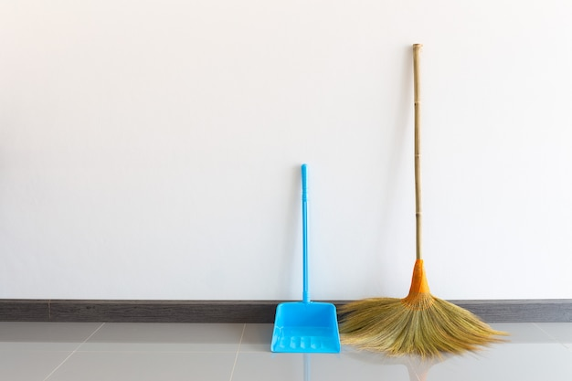 Broom made of grass