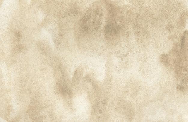 テクスチャ紙に茶色の抽象的な水彩画の背景