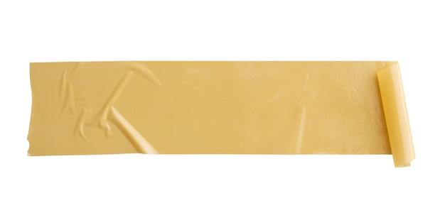 흰색 배경에 고립 된 갈색 접착 테이프