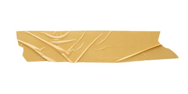 白い背景で隔離の茶色の粘着テープ