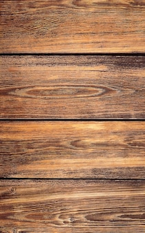 Brown background from wooden planks