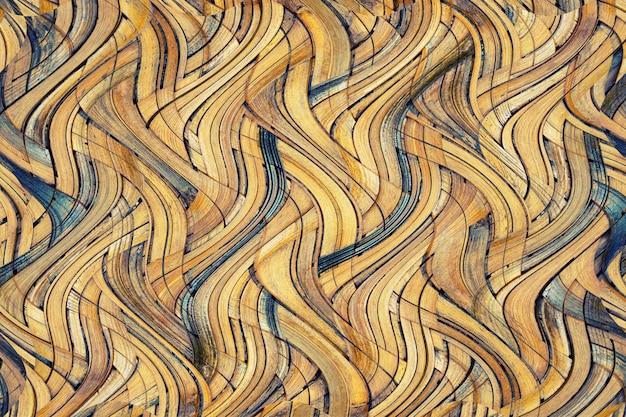갈색 대나무 직물 질감
