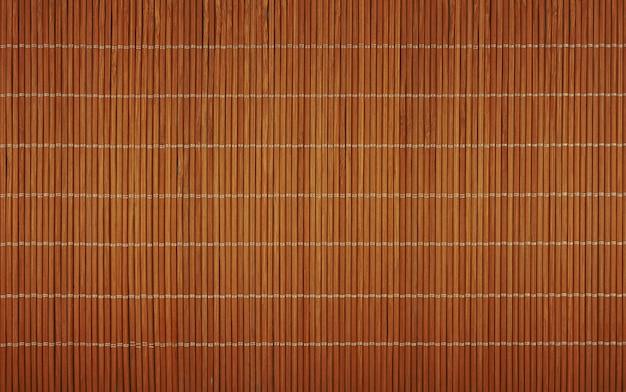 茶色の竹の木製マット背景テクスチャ