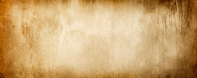 빈티지 종이 질감과 공간 복사본이 있는 그루지 스타일의 갈색 배너 배경